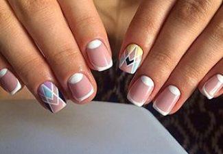 Полосатая геометрия в дизайне ногтей - фото 12