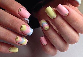 Полосатая геометрия в дизайне ногтей - фото 4