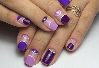 Полосатая геометрия в дизайне ногтей - фото 8