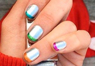 Разноцветный френч - фото 11