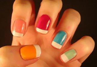Разноцветный френч - фото 12