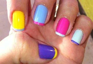 Разноцветный френч - фото 13