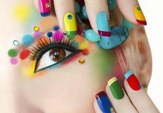 Разноцветный френч - фото 16