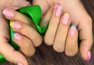Разноцветный френч - фото 6
