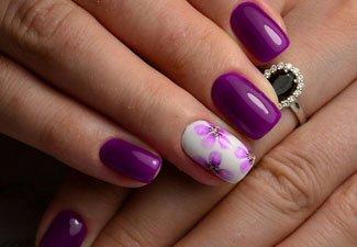 Гель-лак на коротких ногтях - фото 31