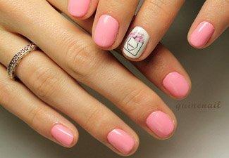 Гель-лак на коротких ногтях - фото 34