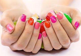 Гель-лак на коротких ногтях - фото 39