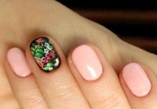 Гель-лак на коротких ногтях - фото 8
