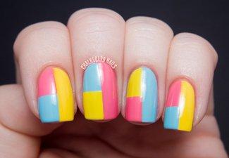 Разноцветный маникюр гель-лаком - фото 13