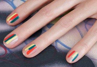 Разноцветный маникюр гель-лаком - фото 23