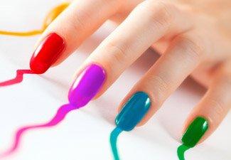 Разноцветный маникюр гель-лаком - фото 30