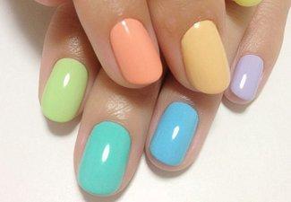 Разноцветный маникюр гель-лаком - фото 5