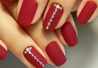 Гелевые ногти с черным френчем фото
