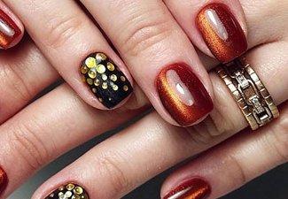Осенний дизайн длинных ногтей - фото 1