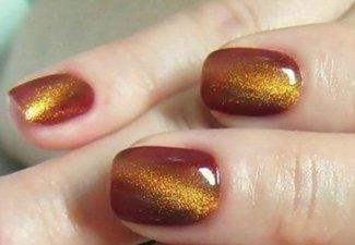 Осенний дизайн длинных ногтей - фото 10