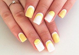 Осенний дизайн длинных ногтей - фото 11