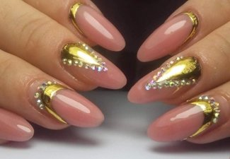 Осенний дизайн длинных ногтей - фото 15