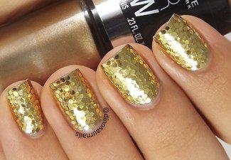 Осенний дизайн длинных ногтей - фото 16