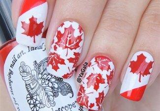 Осенний дизайн длинных ногтей - фото 20