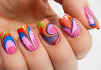 Осенний дизайн длинных ногтей - фото 21