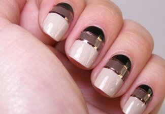 Осенний дизайн длинных ногтей - фото 24