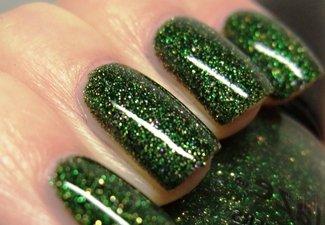 Осенний дизайн длинных ногтей - фото 25