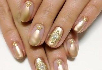 Осенний дизайн длинных ногтей - фото 26