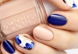 Осенний дизайн длинных ногтей - фото 29