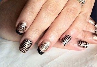 Осенний дизайн длинных ногтей - фото 30