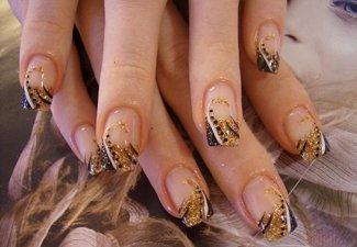 Осенний дизайн длинных ногтей - фото 31