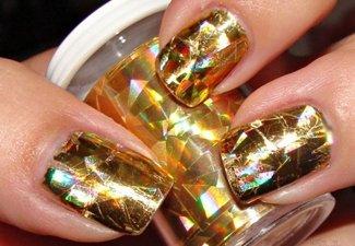 Осенний дизайн длинных ногтей - фото 33