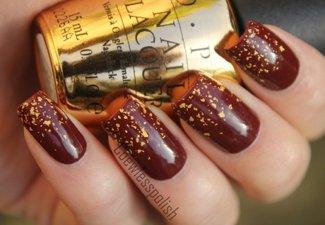 Осенний дизайн длинных ногтей - фото 35