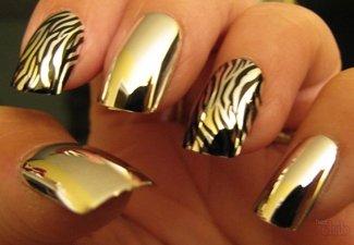 Осенний дизайн длинных ногтей - фото 36