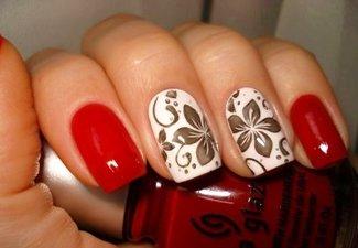 Осенний дизайн длинных ногтей - фото 8