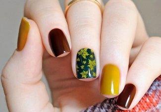 Осенний дизайн длинных ногтей - фото 9