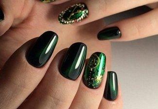 Осенний дизайн коротких ногтей - фото 1