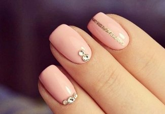 Осенний дизайн коротких ногтей - фото 14
