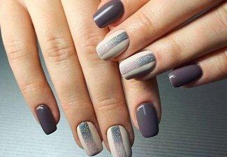 Осенний дизайн коротких ногтей - фото 16