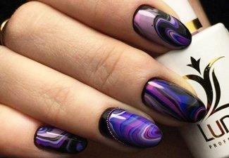 Осенний дизайн коротких ногтей - фото 19