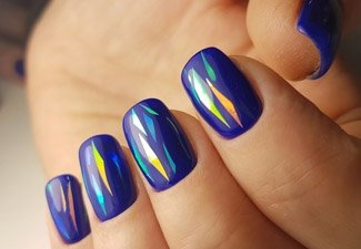 Осенний дизайн коротких ногтей - фото 2