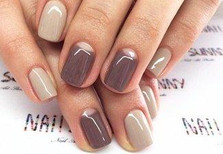 Осенний дизайн коротких ногтей - фото 20