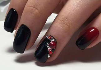 Осенний дизайн коротких ногтей - фото 21