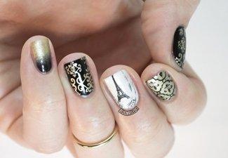 Осенний дизайн коротких ногтей - фото 22