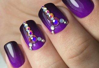 Осенний дизайн коротких ногтей - фото 26