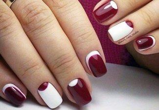 Осенний дизайн коротких ногтей - фото 28