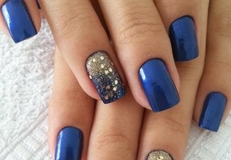 Осенний дизайн коротких ногтей - фото 30