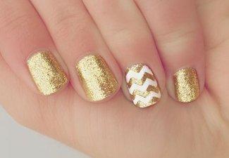 Осенний дизайн коротких ногтей - фото 31