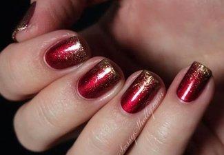 Осенний дизайн коротких ногтей - фото 32