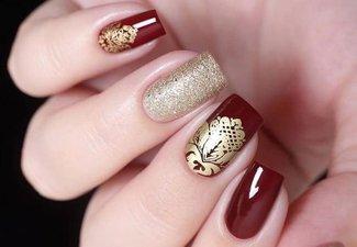 Осенний дизайн коротких ногтей - фото 33