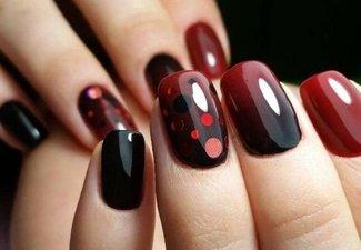 Осенний дизайн коротких ногтей - фото 34